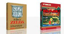 Die Legende von Zelda Nes Ersatz Spiel Hülle Box + für Work (Kein Spiel)