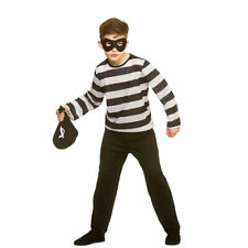 Boys Sneaky Robber Costume for Thief Bank Gang Mob Fancy Dress