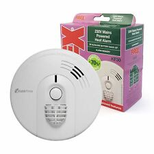 Kidde Firex KF30 Hard Wired Mains Heat Alarm Kitchen with 9V Battery Back Up NEW