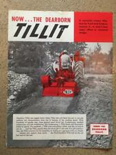 Vintage 1960 THE DEARBORN TILLIT Dealers Catalog FORD Advertising Brochure