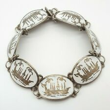 Vintage 925 Silber Armband - Siam Sterling - Emailliert - 24.3.21