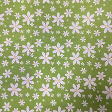 Floral Polycotton Fabric * Floating Daisy Daisies - 5 Colours Sold Per Metre