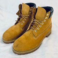 Timberland Leather 10061 6 Inch Premium Waterproof Boots! Size13 M Wheat Nubuck