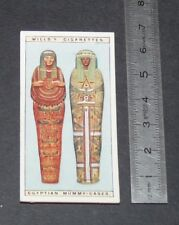 CHROMO 1926 WILLS CIGARETTE CARD EGYPTE EGYPT EGYPTIAN MUMMY-CASES