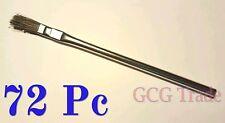 "72 Pc 3/8 Inch Acid Brushes Metal Handle Horsehair Bristle Hobby Glue Oil 3/8"""