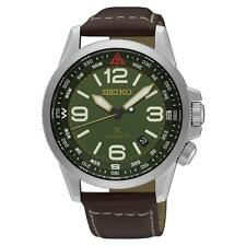 SEIKO MEN'S PROSPEX 42MM BROWN LEATHER BAND STEEL CASE AUTOMATIC WATCH SRPA77