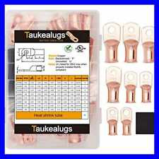 80PCS Battery Terminal Connectors Cable Ends UL Listed AWG6 1/0 Crimp Copper Wir