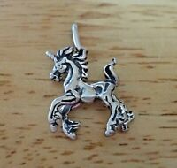 Sterling Silver 3D 27x19mm Magical Unicorn Charm Pendant!