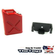 RC Rock Crawler, Drift Scale Garage Miniature Fuel Gas Can w/Mount TOYZ356 Red