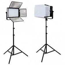 METTLE LED Studioset MATRIX VL-800 dimmbare 2x Studioleuchte + Stative 240 cm