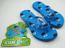 Sesame Street Cookie Monster Flip Flop Women's Small 5 - 6 Blue Shoes New ST181