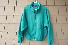 Mens Patagonia Sweatshirt 1/2 Zip Fleece Jacket Coat Teal Green Large Marsupial