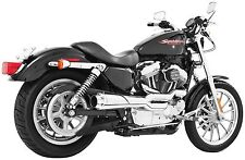 2-Into-1 Chrome Header Pipe HD00337-XL Freedom Exhaust  Harley Sportster 2004-13