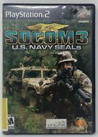 Socom 3 U.S. Navy Seals Video Game Sony Playstation 2 PS2 Complete Shooter 2005