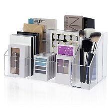 Makeup Palette Organizer Acrylic Cosmetic Case Women Brush Holder Storage Box
