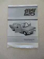 Fiat 124 Sport Coupe car road and research test promotional brochure - Australia
