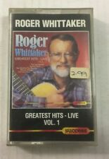 "Roger Whittaker ""Greatest Hits: Live Vol.1"" Tape Cassette - Never Been Played"
