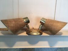 Vintage Mid Century Moe Light Dual Sconce Fiberglass Lamp Fixture Atomic Ranch
