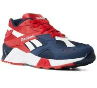 Reebok Classics Aztrek Navy Red White DV8816 Running Sneakers