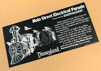 Disneyland Vintage Paper Card for Main Street Electrical Parade Energizer 1986