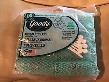Vintage Goody 10 Large Brush Rollers, New