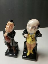 Vintage Royal Doulton Dickens Character Figurines Pecksniff And Pickwick