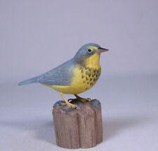 Canada Warbler Backyard Bird Wood Carving/Birdhug