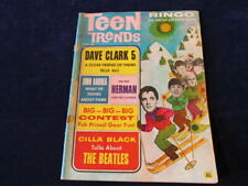 Teen Trends Magazine 1966 Beatles Ringo's Baby Dave Clark Five Chad Jeremy  Q412