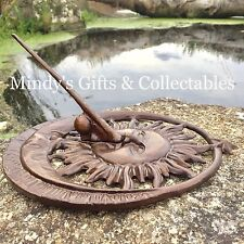 25cm Long Metal Sundial Garden Feature Garden Art