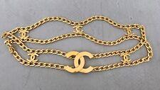 CHANEL Gütel necklace Iconic Kette gripoix Vintage bag earrings CCTasche BELT