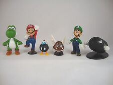 Super Mario 6-Figuren-Serie 1 Nintendo Figur New Wii Yoshi,Luigi,Bob-Omb,Bullet