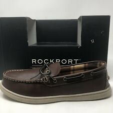 Rockport Men's Leather Indoor/Outdoor Slipper Shoes NIB 10 Brown Trutech Cushion