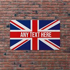 Personalised Union Jack 5x3ft Banner