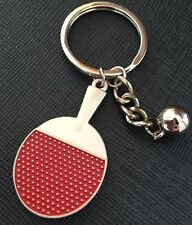 FD4802 Classic 3D Sports Table Tennis Keychain Keyring Key Chain Ring Cute Gift✿