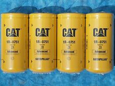 4 NEW CAT 1R-0751 FUEL FILTERS SEALED MADE IN USA CATERPILLAR 1R0751 OEM