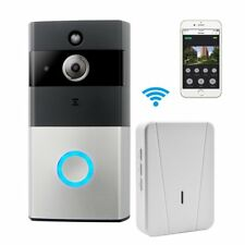 WIFI Video Doorbell, Smart Doorbell 720P HD Security Camera Chime Night Vision