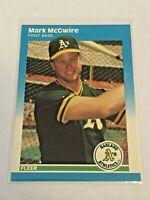 1987 Fleer Update Baseball Base Card - Mark McGwire - Oakland Athletics
