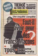 Nostradamus hebdomadaire 26 05/10/1972 Franc-maçonnerie Padre Gino Burresi