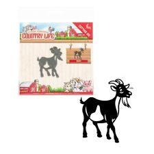 Goat metal craft die Country Life cutting dies Yvonne Creations Farm Animal Fair