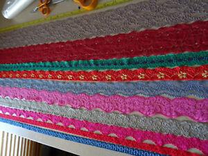 Job Lot Off-Cuts STRETCH Lace 10 x 1m lengths Lace Bundle mixed colours LOT 1