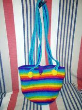Hippy / Hippie Rainbow Coloured Woven Bag