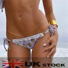 Sexy Body Belly Waist Chain Bikini Crossover Beach Harness Necklace