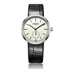 Men's stainless steel Canterbury Leather watch RRP £95 Our Price £75.95 Free UK