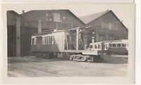 YOUNGSTOWN MUNICIPAL RAILWAY Freight Trolley Car Barn OH Ohio Photograph