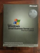 NEW Microsoft Windows Small Business Server 2003 Premium 5 CAL RETAIL SEALED BOX