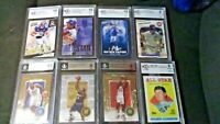 Multi-Sport BGS Graded Card Lot of 8 (basketball/football/baseball)