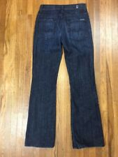 7 For All Mankind Womens High Waisted Bootcut Jeans Sz 24 24x27 Dark Wash