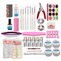 Nail Care Manicure Accessories Kits UV Gel Buffing Cream Acrylic Powder Tips Kit