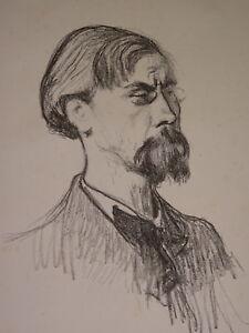 Henry BATAILLE 1872-1922 LITHO PORTRAIT Jules CASE LITTERATURE STRASBOURG 1901