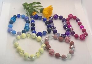 Handmade Beaded Bracelet // Polymer Clay Beads // Glass Beads // Various Colours